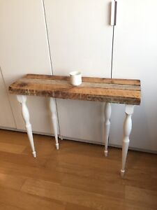 AUTHENTIC VINTAGE RECLAIMED WOOD CONSOLE TABLE HALL WAY FOYER