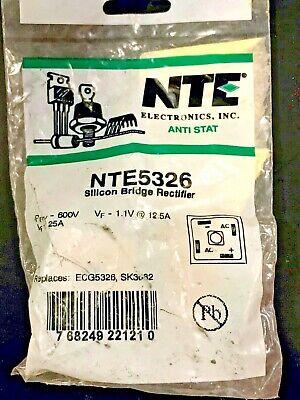 New Nte5326 Bridge Rectifier Diode Single Phase 600v 25a