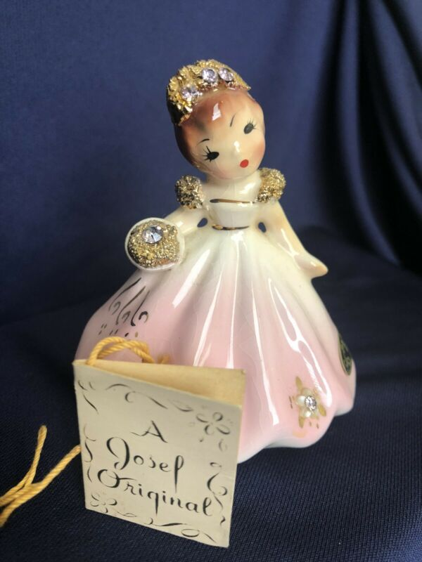 "Josef Originals ""June"" Tilt Head Figurine California Label W/Hangtag - FABULOUS!"