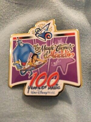 Aladdin & Genie on Magic Carpet - Walt Disney World Press Pin 100 Years of Magic