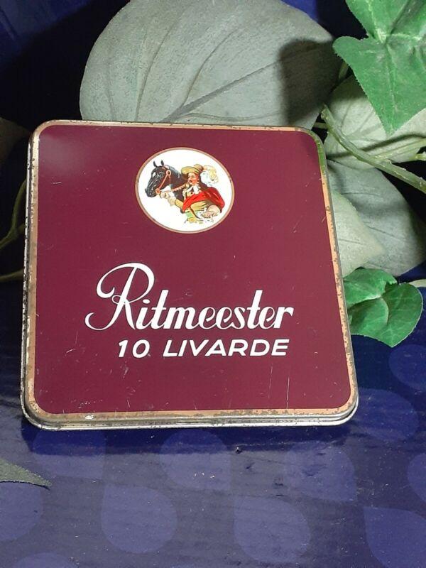 Vintage Ritmeester 20 Livarde Cigar Tin made in Holland equestrian Netherlands