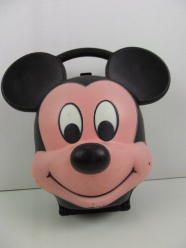 Vintage Mickey Mouse Head Lunch Box Aladdin Industries With Thermos 1980
