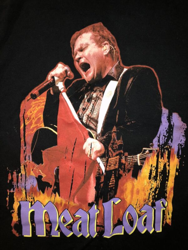 Meat Loaf T Shirt Size L Hair Of The Dog Tour 2005 Meat Loaf Rock Music 90's