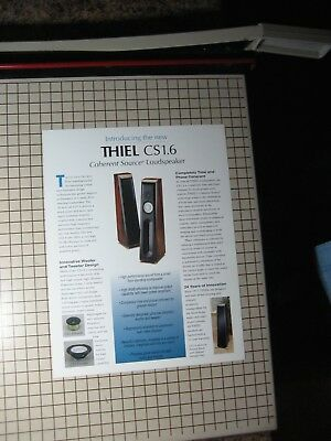 Thiel CS1.6 Original Speaker Brochure for sale  Shipping to South Africa