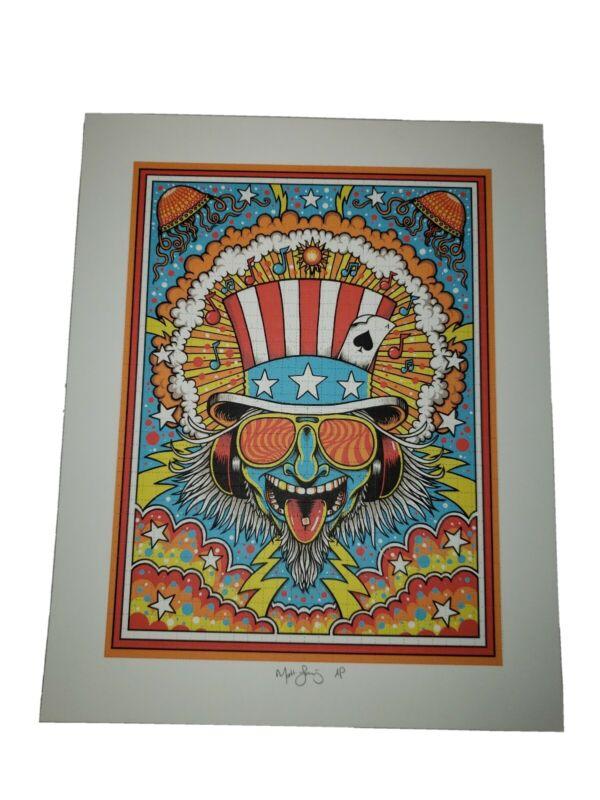 Matt Leunig psychedelic Blotter Art signed blotter art print a/p artist proof