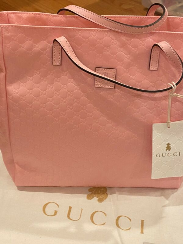 New Auth Girls Gucci Pink Tote Bag