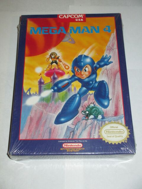 Mega Man 4 (Nintendo NES, 1992) NEW Factory Sealed #1