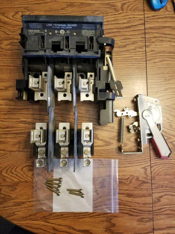 ALLEN-BRADLEY 1494V-DS200 / 1494V-FS200 - 200A DISCONNECT SWITCH COMPLETE
