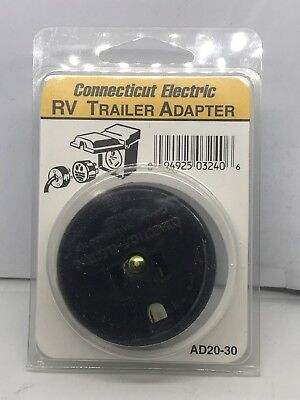 Connecticut Electric CESMAD3020 RV Outlet Adapter, 30-Amps/120-Volt