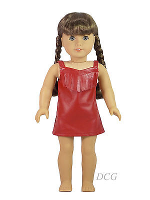 AFW RED DRESS OUTFIT for American Girl Dolls Cowgirl NEW Fringe Leather Clothes - Cowgirl Dress For Girls