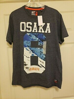 Superdry Osaka Emboss Tee Blue Men's XL NWT