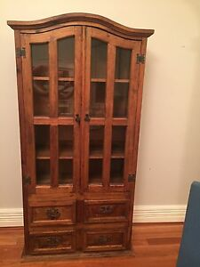 Solid timber rustic style display cabinet Burwood Burwood Area Preview