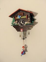 Reuge Swiss Musical Movement Cuckoo Clock Le Vieux Chalet VINTAGE Germany