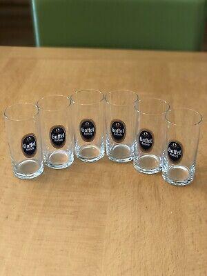 Gaffel Kolsch Beer Glasses. 0.1 Liter . Set of 6 Brand New .