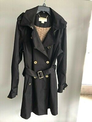 Michael Kors Removable Hooded Trench Coat Black XL