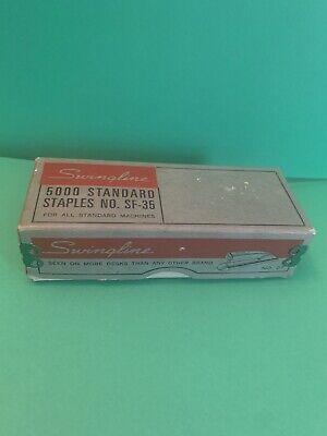 Vintage Swingline Stapler 5000 Standard Staples No. Sf-35 Green Box
