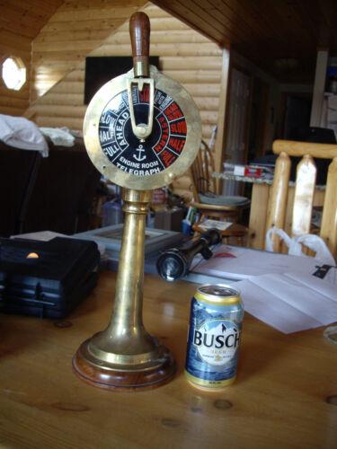 """Brass Titanic Engine Room Telegraph Nautical decor marine gift nautical gift 17"""""""