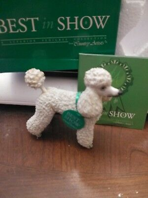 New NIB COUNTRY ARTISTS BEST IN SHOW White Standard POODLE Dog Figurine #03954