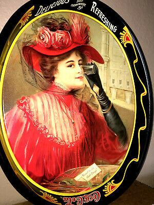 COCA COLA TIN Serving Tray GIBSON GIRL Vintage 1908 CALENDAR LADY 1987 Repro