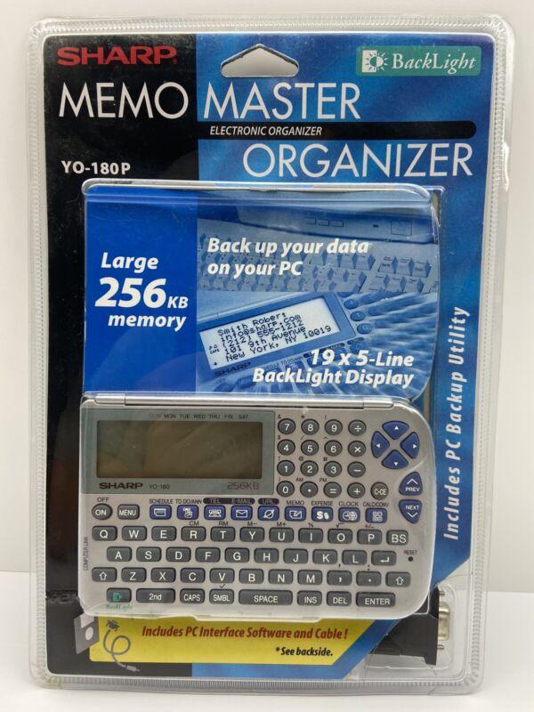 Sharp Memo Master Electronic Organizer YO-180P Large 256KB Memory Factory Sealed