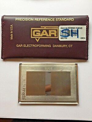 Gar Precision Reference Standard 119.5 Ra 16.1 Ra