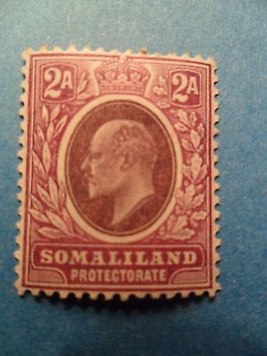 Somaliland Protectorate. KGEVII 1905 2a Dull & Bright Purple. SG47. LMH.
