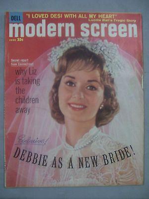 MODERN SCREEN MAGAZINE JUNE 1960 DEBBIE NEW BRIDE LOVE DESI LIZ TAKING CHILDREN