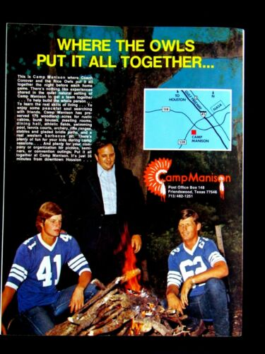 "Camp Manison Rice Al Coach Conover  RARE Regional Original Print Ad-8.5 x 11"""