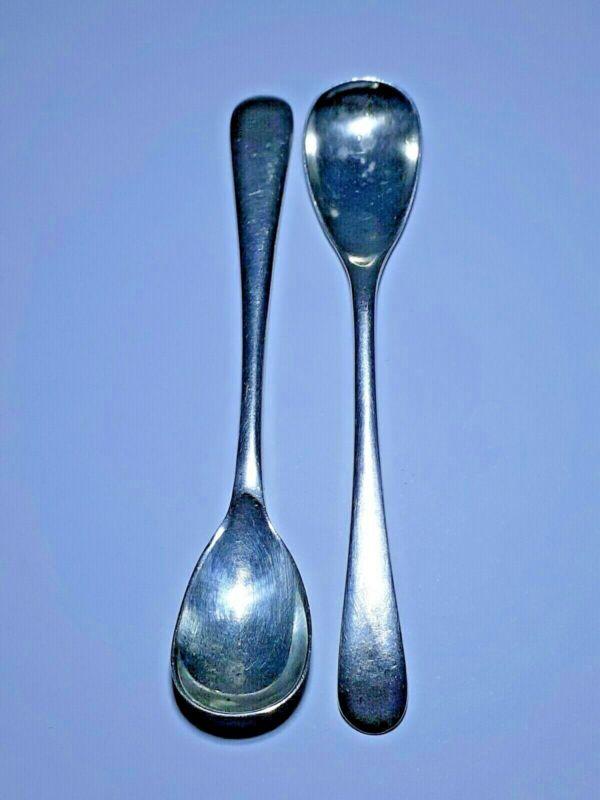 Vintage Matched Pair Sterling Sheffield Silver Salt Spoons
