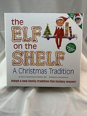 The Elf on the Shelf Christmas Book w/ Blue-eyed Boy Scout Elf Doll NIB