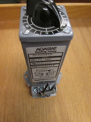 Agastat Timing Relay 2122d4yd 125vdc Coil .375-3 Range With Base Used
