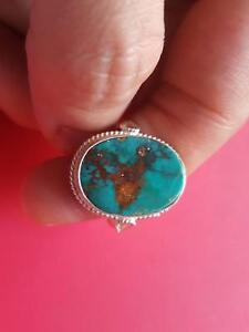 Wonderful Persian Turquoise Ring Authentic Neishabur Mine
