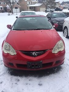 2002 Red Acura RSX Coupe