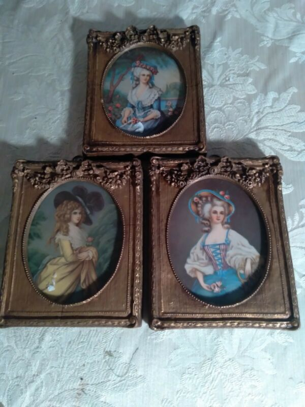 3 French Victorian  Goldleaf Gesso Picture Frame