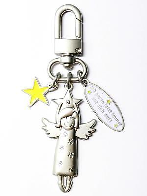 Schutzengel Schlüsselanhänger Edelstahl 10 cm Gastgeschenk Einschulung Mitgebsel