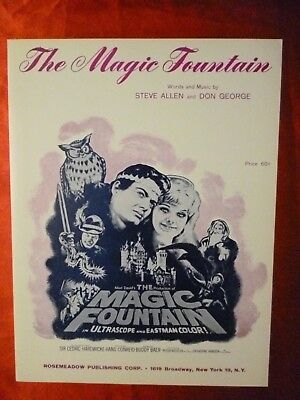 THE MAGIC FOUNTAIN Movie Sheet Music from Brothers Grimm Fairy Tale Hans Conreid