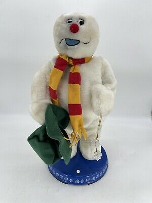 Gemmy Frosty The Snowman Christmas Animated Dancing Spinning Snowflake Read Desc