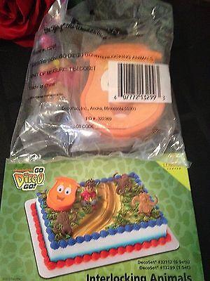 DecoPac GO DIEGO GO INTERLOCKING ANIMAL CAKE TOPPER DECORATING KIT BIRTHDAY NEW  - Go Diego Go Cake