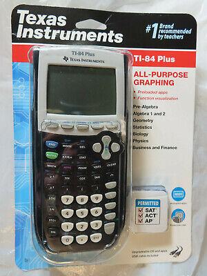 TEXAS INSTRUMENT TI-84 PLUS ALL-PURPOSE GRAPHING CALCULATOR BLACK BRAND NEW