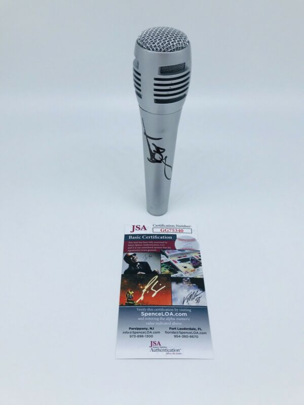 ICE T HAND SIGNED MICROPHONE WITH JSA COA LAW AND ORDER