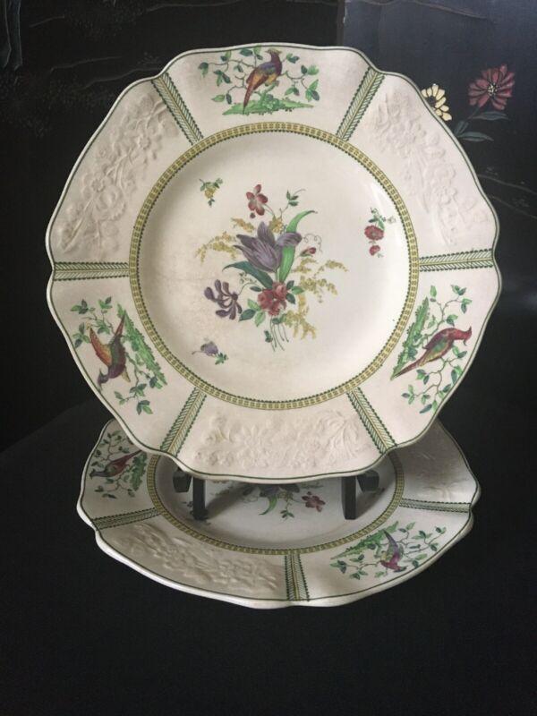 "2 Copeland Spode ""June"" Luncheon Plates 1890's"