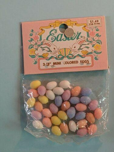 NOS Teenie Weenie  Plastic Easter Eggs Pastel Egg Assortment   Crafts