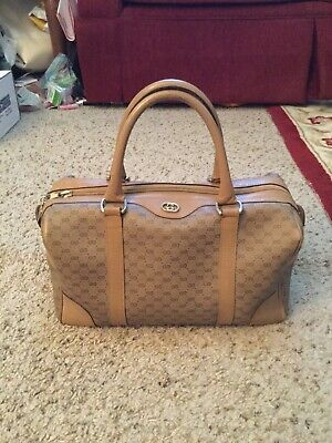 GUCCI VINTAGE MONOGRAM LEATHER SPEEDY DOCTOR BAG PURSE