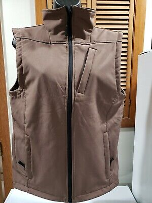 - Pulse Brand Sz XL Youth Brown WATERPROOF WINDPROOF Vest Hiking Outdoors Trail