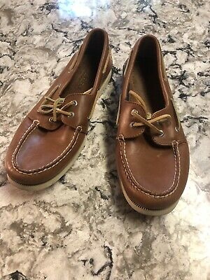 Sperry Top-Sider Authentic Original Mens 2-Eye Casual Boat Shoes Size 9 Brown