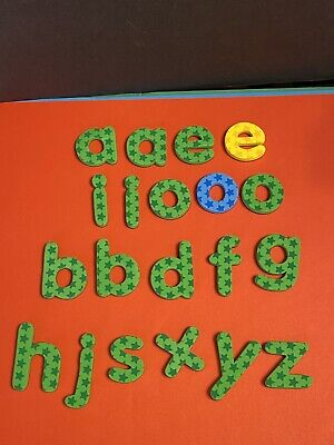 Pixel Premium ABC Magnets Extra Vowels & Other Letters Stars Fridge Replacement