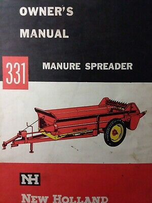 New Holland 331 Manure Spreader Farm Agricultural Tractor Owner Service Manual