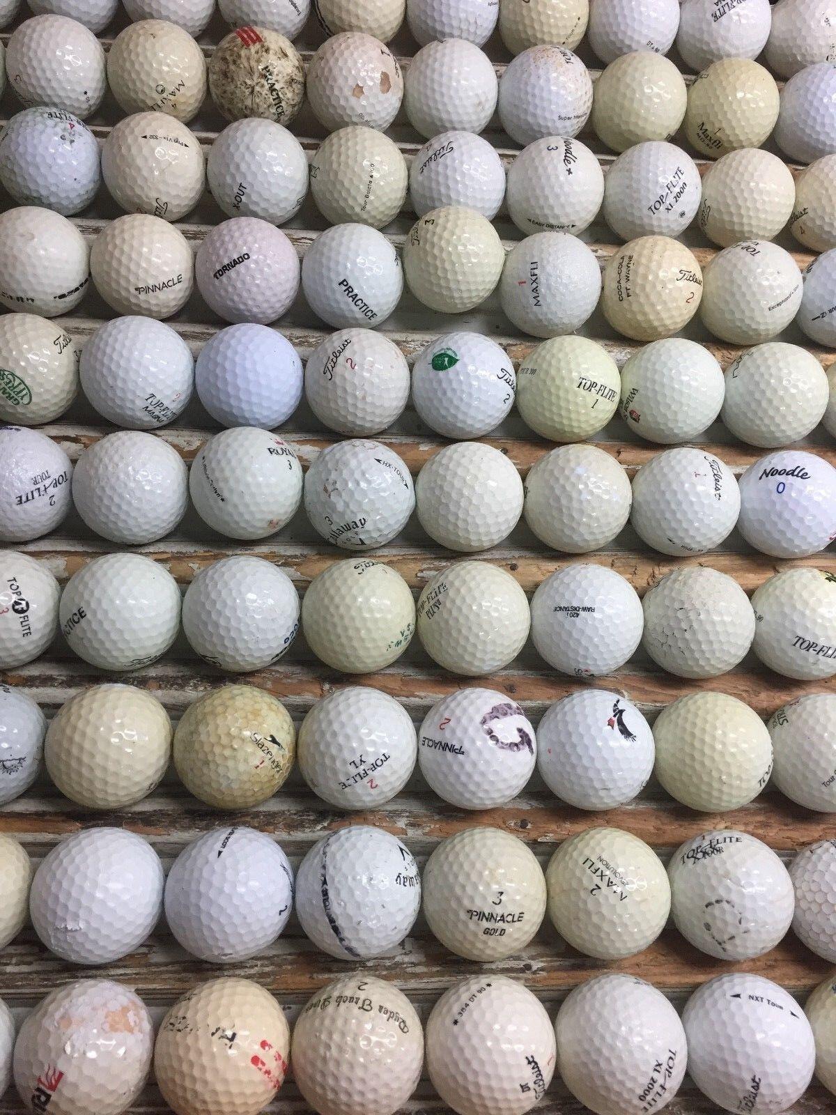 ::100 Hit-Away Shag Practice Range Used Golf Balls