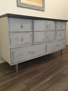 Refinished Mid Century Modern Sideboard Buffet!