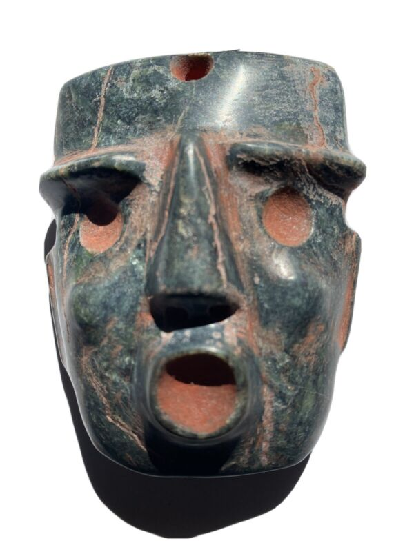 precolumbia   Mezcala  Chontal   Green  Stone  Mask